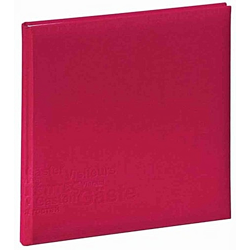 Generic 30903 Europe Guest Book 245 X 245 Mm 180 Pages Linen Cover With Blind Embossing, Wine Red