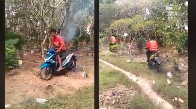 Viral Video Motor Trek-trekan di Makam, Remaja Pasuruan Minta Maaf