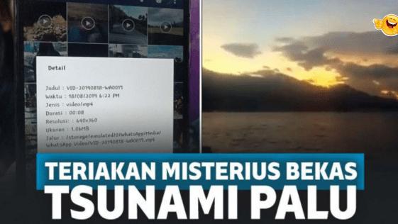 Viral ! Video Menyeramkan Berisi Suara Teriakan Korban Tsunami, Benarkah?
