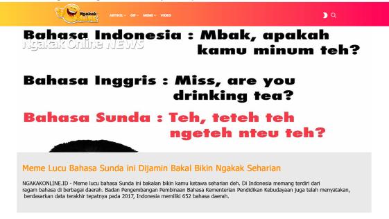 Meme Lucu Bahasa Sunda ini Dijamin Bakal Bikin Ngakak Seharian