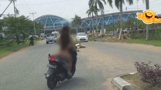 Viral Video Wanita Bugil Naik Motor Keliling Samarinda,