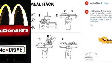 Makan McDonalds Satu Tangan