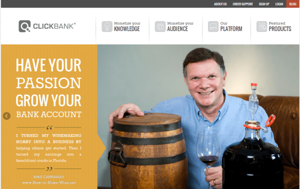 Giao diện mới của Clickbank 2013