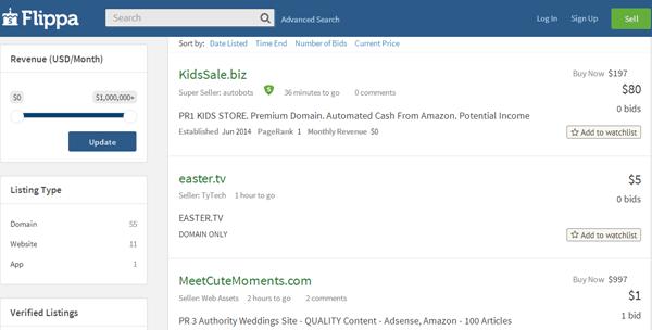 flippa-niche-site
