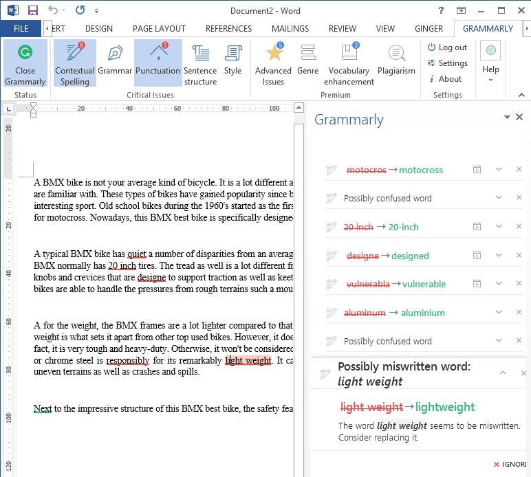 công cụ Grammarly
