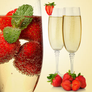 Mixed Drink Fragrance Oils for Summer NG Strawberries and Champagne Type Fragrance Oil
