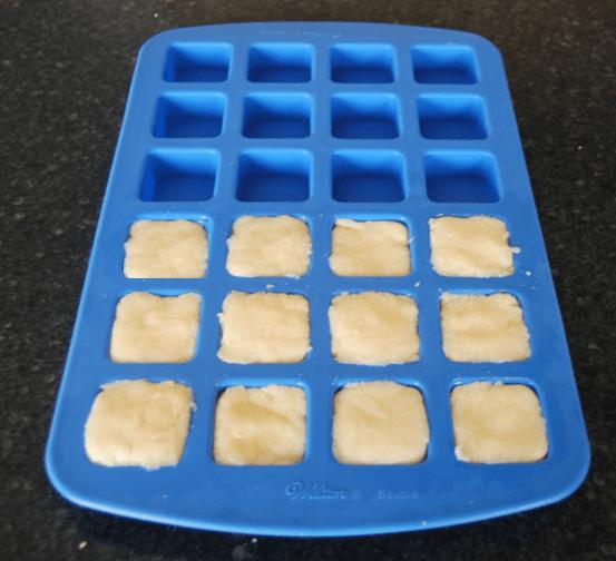 molding sugar cube scrubs