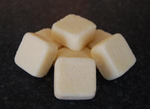 homemade sugar cube scrub