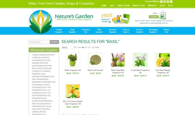 basil results page