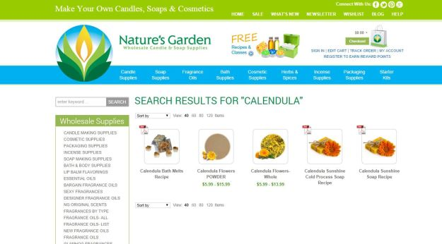 calendula products