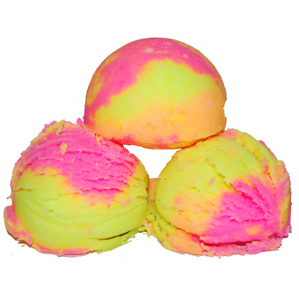 30 Free Bath Bomb Recipes: Rainbow Sherbet Bath Fizzies Recipe