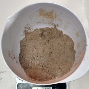 Chocolate Facial Mask Recipe Mixing Together the Ingredients