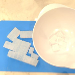 Blackberry Cupcake Soap Recipe Step 5: Preparing Base