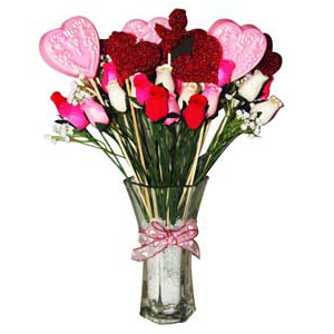 Crafts for Valentines Day: Valentine's Day Bouquet Recipe