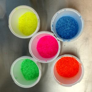 Rainbow Bath Salts Recipe: Using Your Completed Mixtures