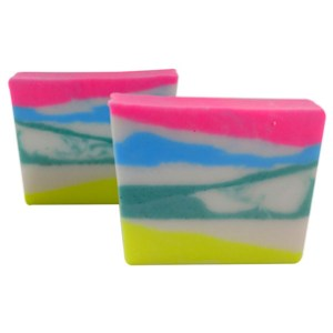 Yogurt Soap Recipes: Rainbow Zebra Print Soap Recipe