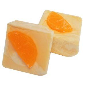 Orange Swirled Cold Process Soap Recipe