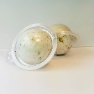 Chamomile Bath Bomb Recipe: Finished Bath Bomb