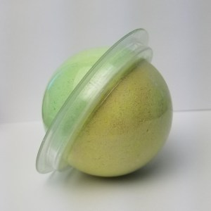 Cucumber Melon Bath Bomb Recipe: Combining the Bath Bomb Molds Halves