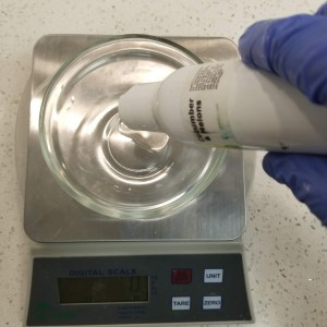 Cucumber Melon Bath Bomb Recipe: Mix in the Scented Oil