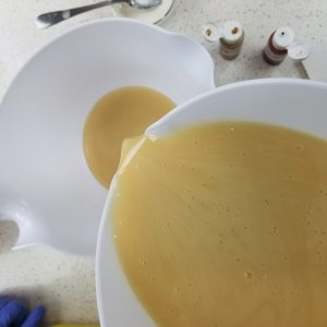 Separate the Cold Process Soap Batter