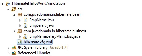 hibernate hello world annotation project structure