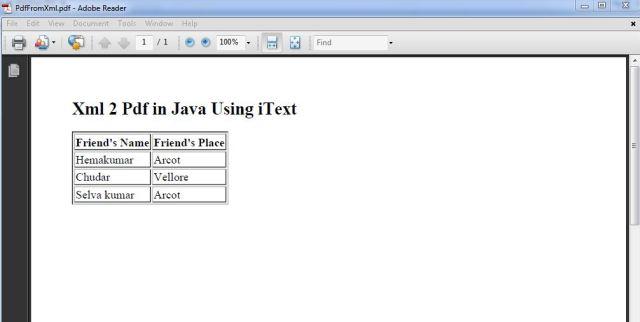 pdf from xml