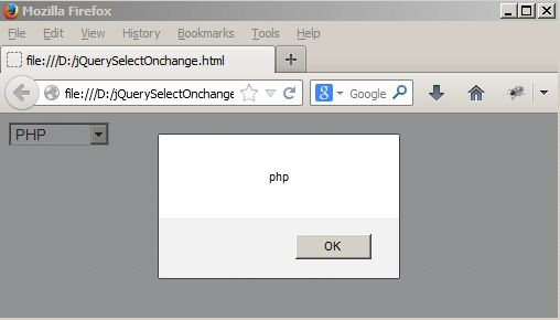 jquery select onchange