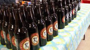 Uncle Leo's Brewery has a number of fine ales. Buy one or buy a few, buy a smaller bottle or a growler. Pair with a growler crate from Handcrafted By Melissa. Uncle Leo's is at the Market December 3rd, and 17th.