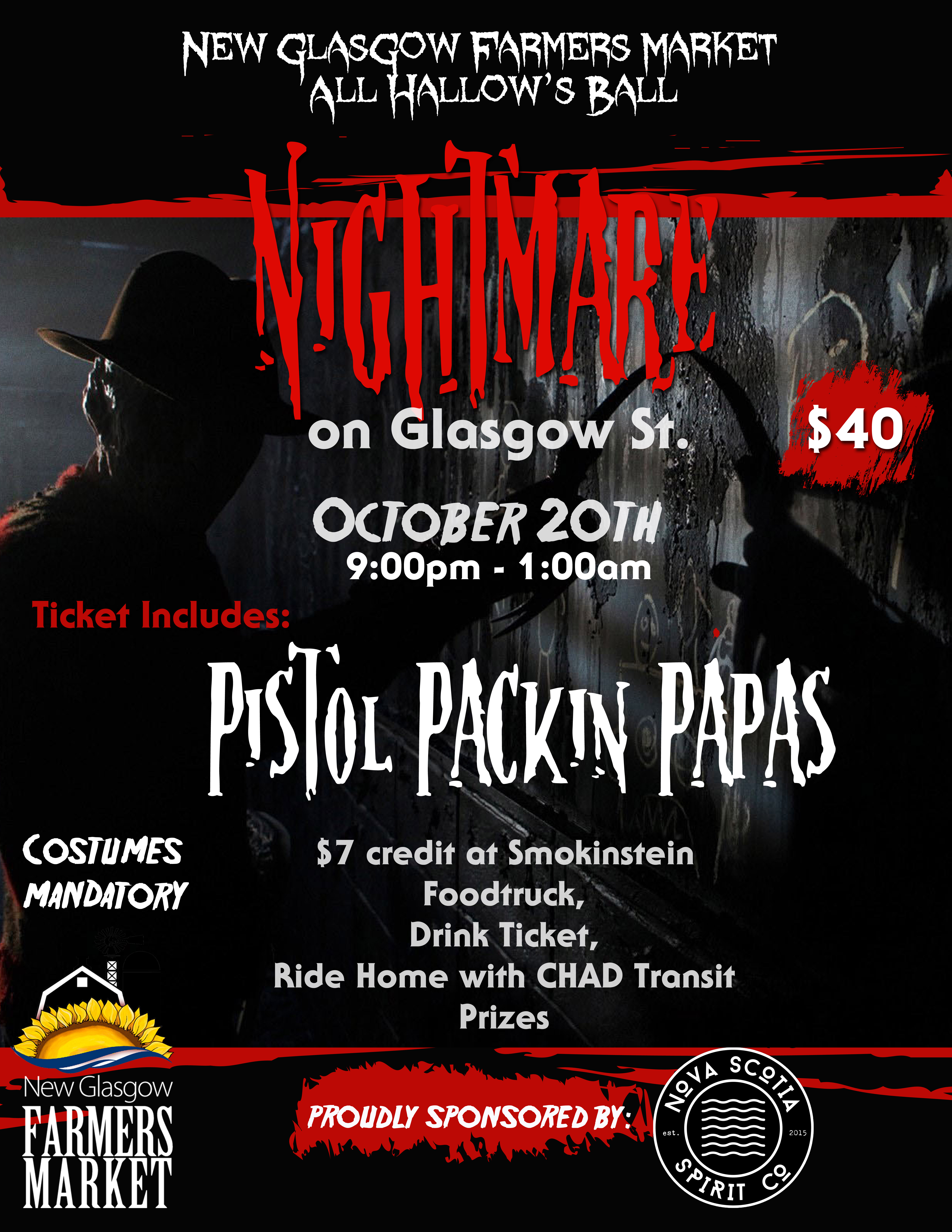 All Hallow's Ball – Nightmare on Glasgow St  – Local, Fresh