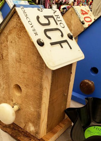Samco Creations is the creation of Samuel, one of our youth vendors. He has all sorts unqiuely handcrafted items. One of his most popular are his license plate birdhouses but he also has record bowls amogst other goodies. Stop by his table on December 3rd, 7th and 10th.