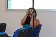 Clara tirando fotos