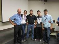 Com os professores Bruce Weir e Jerome Goudet e amigos.