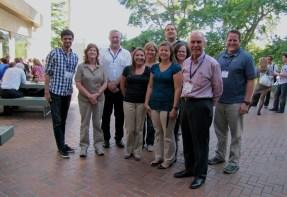 Bruce Weir (camisa rosa a frente), John Buckleton (camisa branca), eu e outros 'attendees' da módulo de Genética Forense.