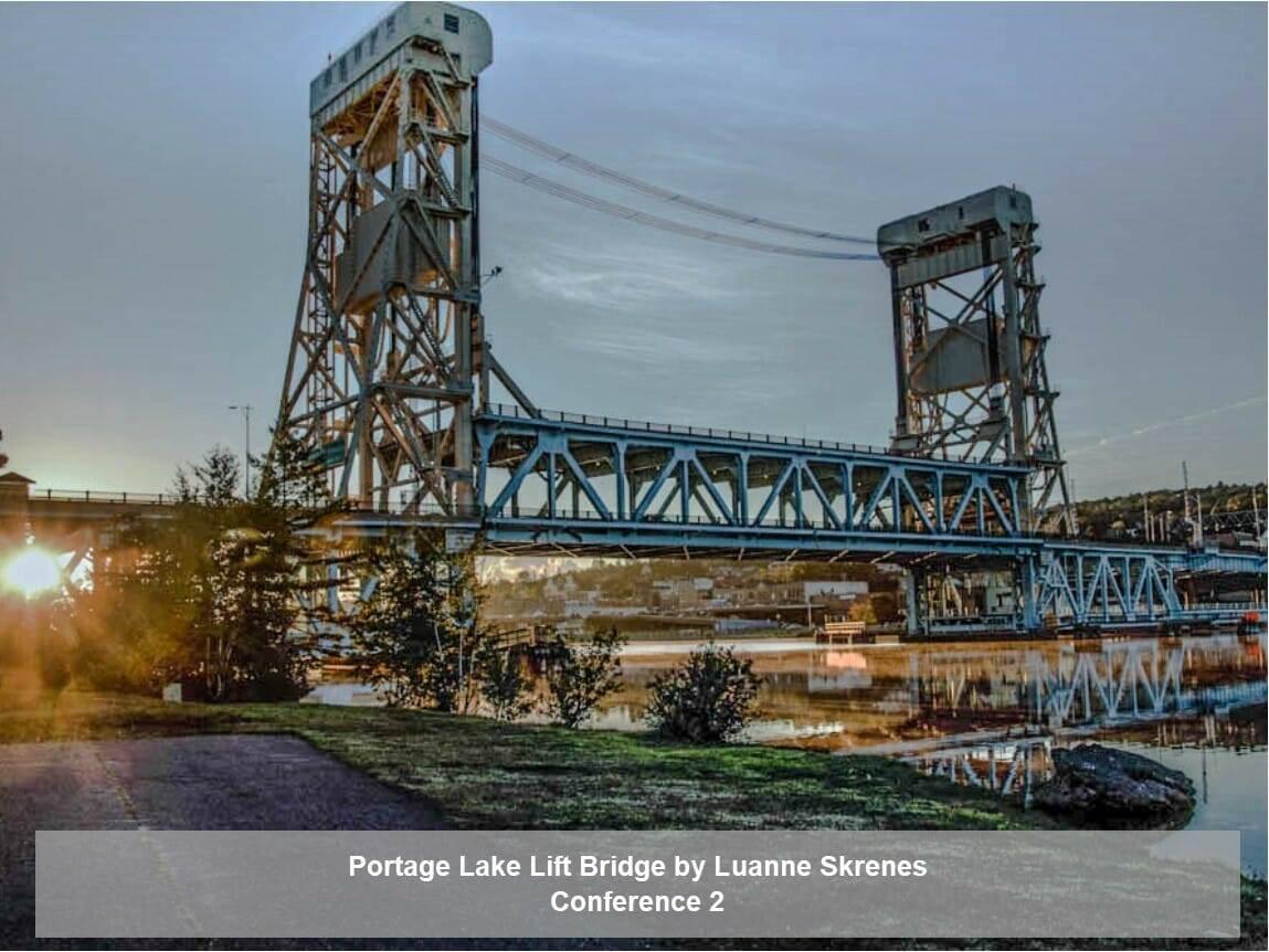 Portage Lake Lift Bridge by Luanne Skrenes