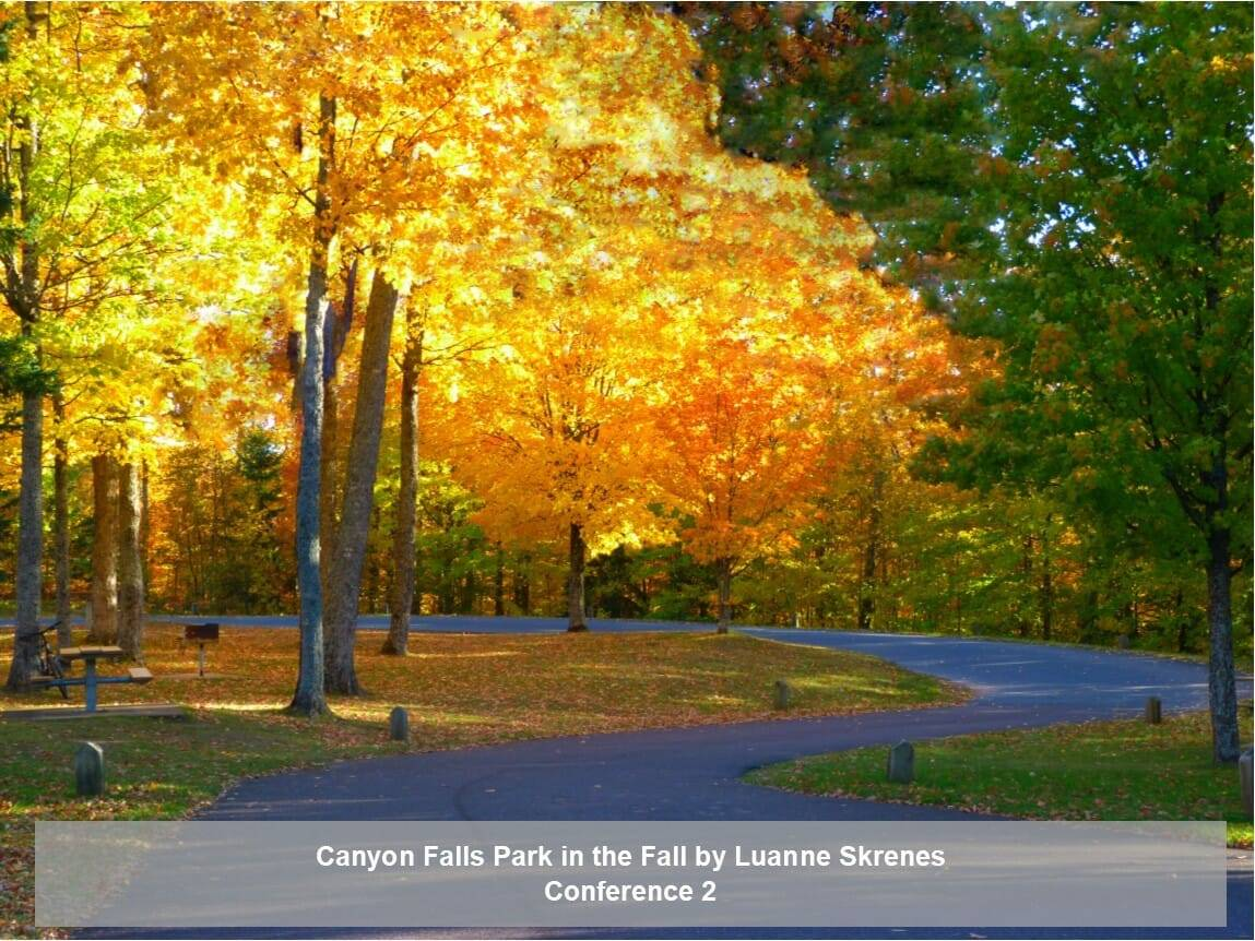 Canyon Falls Park in the fall by Luanne Skrenes
