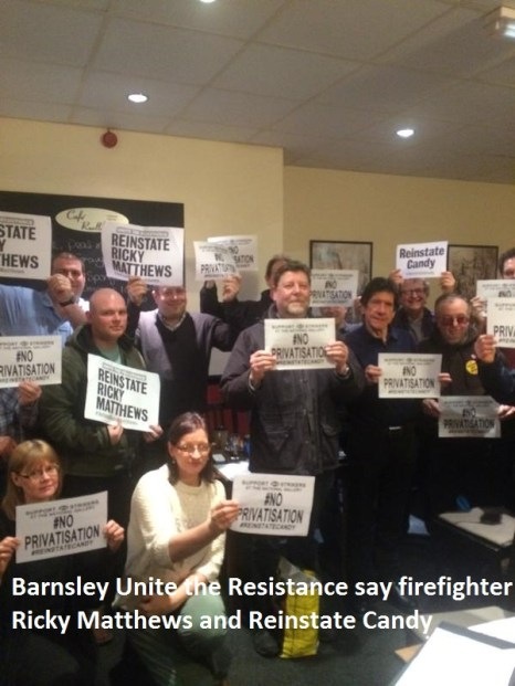 Barnsley Unite the Resistance #reinstate Ricky Matthews