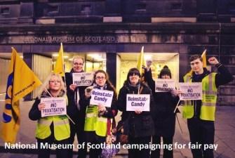 Nat museum scot fair pay protest