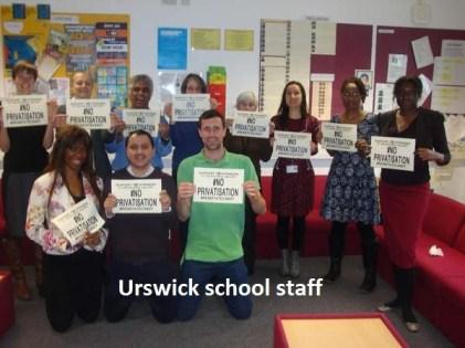 Urswick school staff