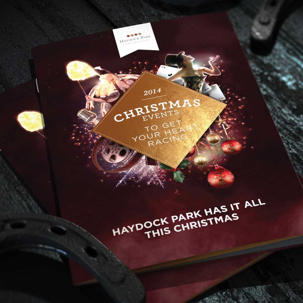 bespoke design, branding, the jockey club christmas, haydock park, Manchester 3D Artist Visualisation