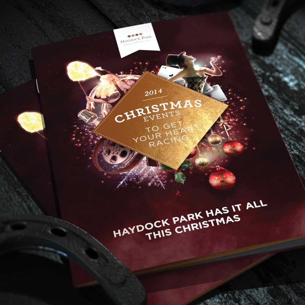 bespoke design, branding, the jockey club christmas, haydock park, Manchester 3D Artist Visualisation