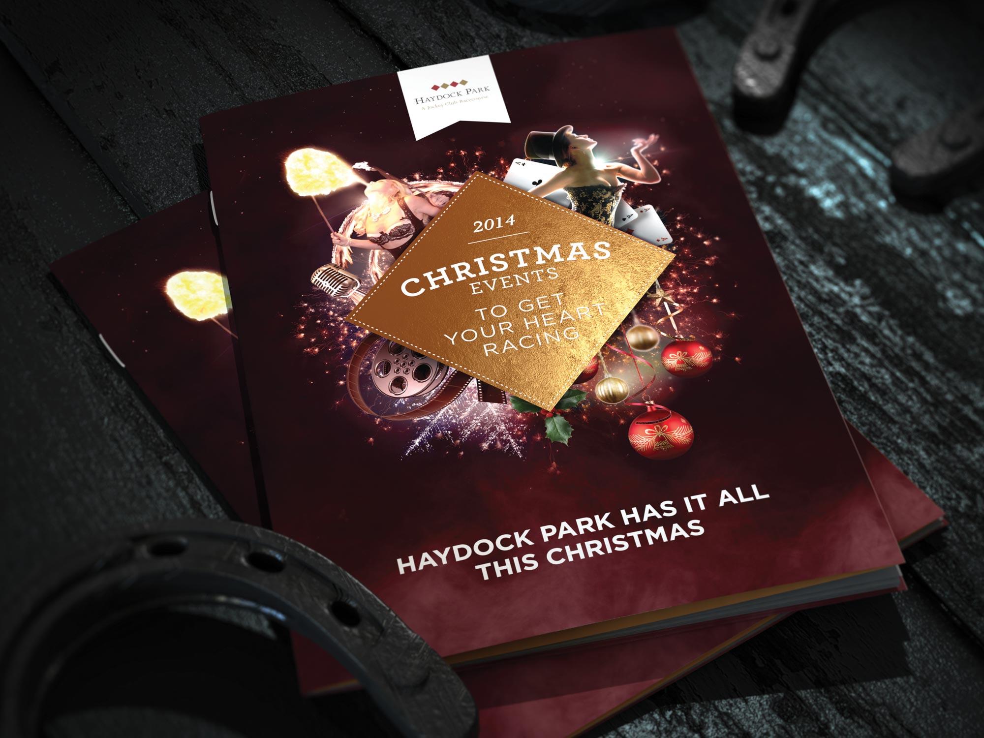 bespoke design, branding, the jockey club christmas, haydock park