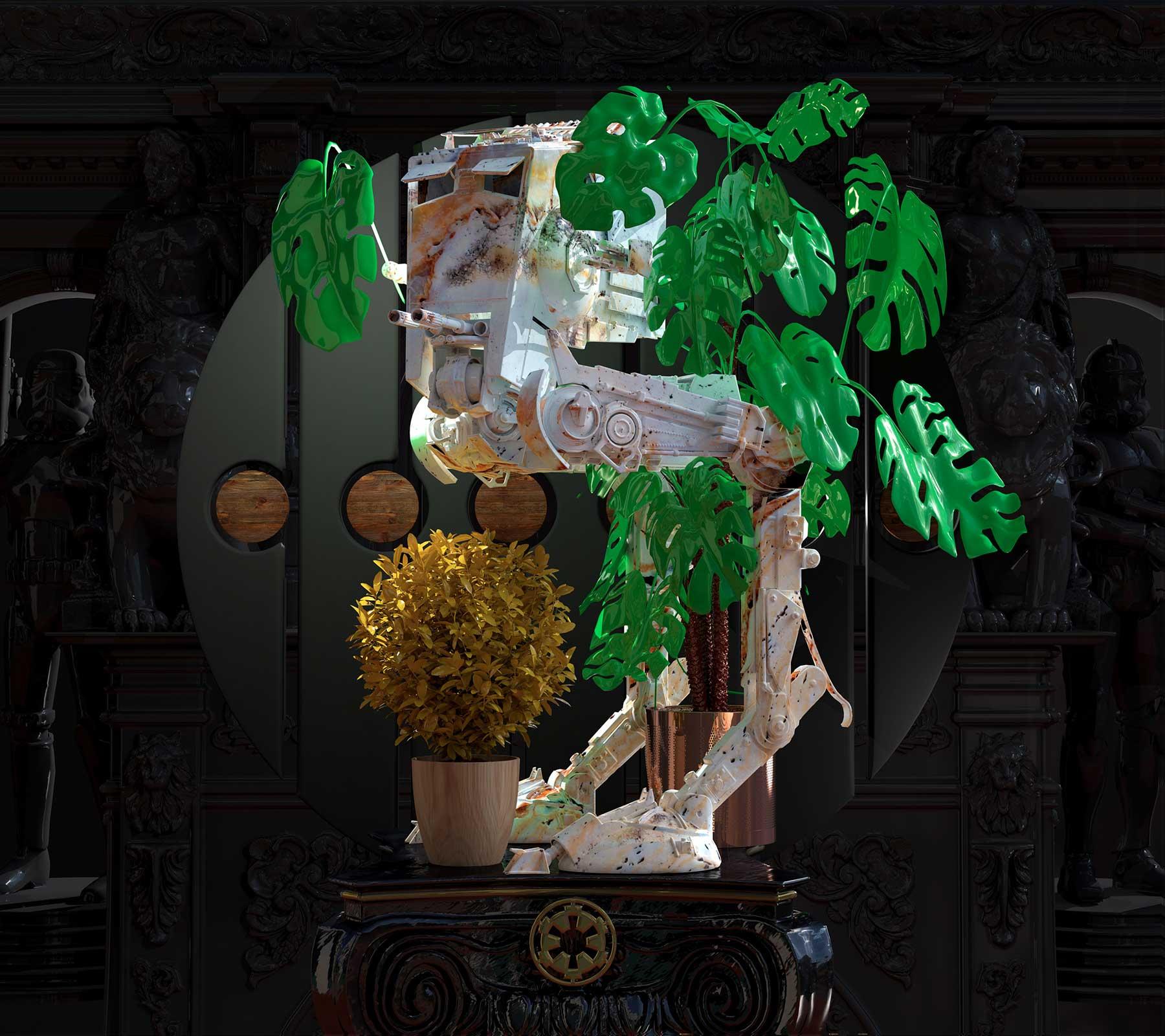 Star Wars, Ngon, Jodie Rudge, 3d design, cgi, bespoke branding, Manchester 3D Artist Visualisation