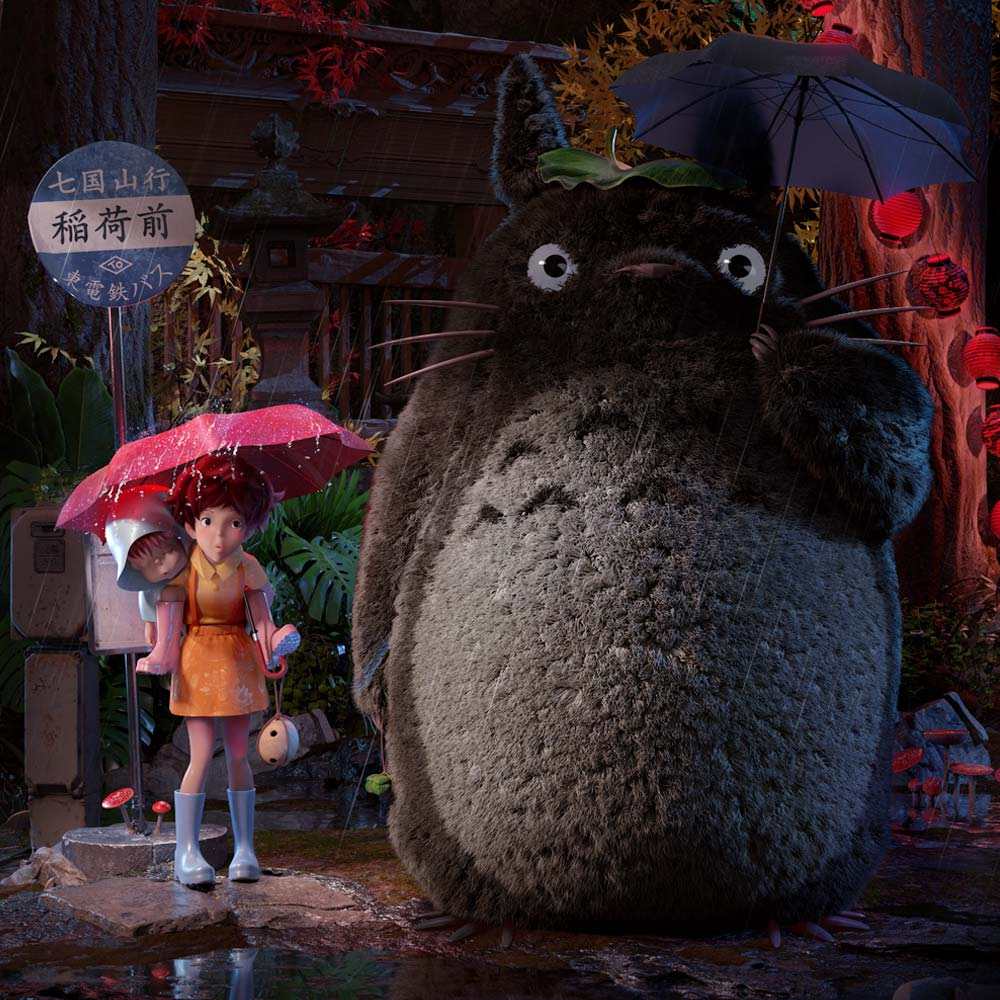 studio ghibli, my neighbor totoro, Johnnie Walker, Ngon, Manchester Agency, 3d artist