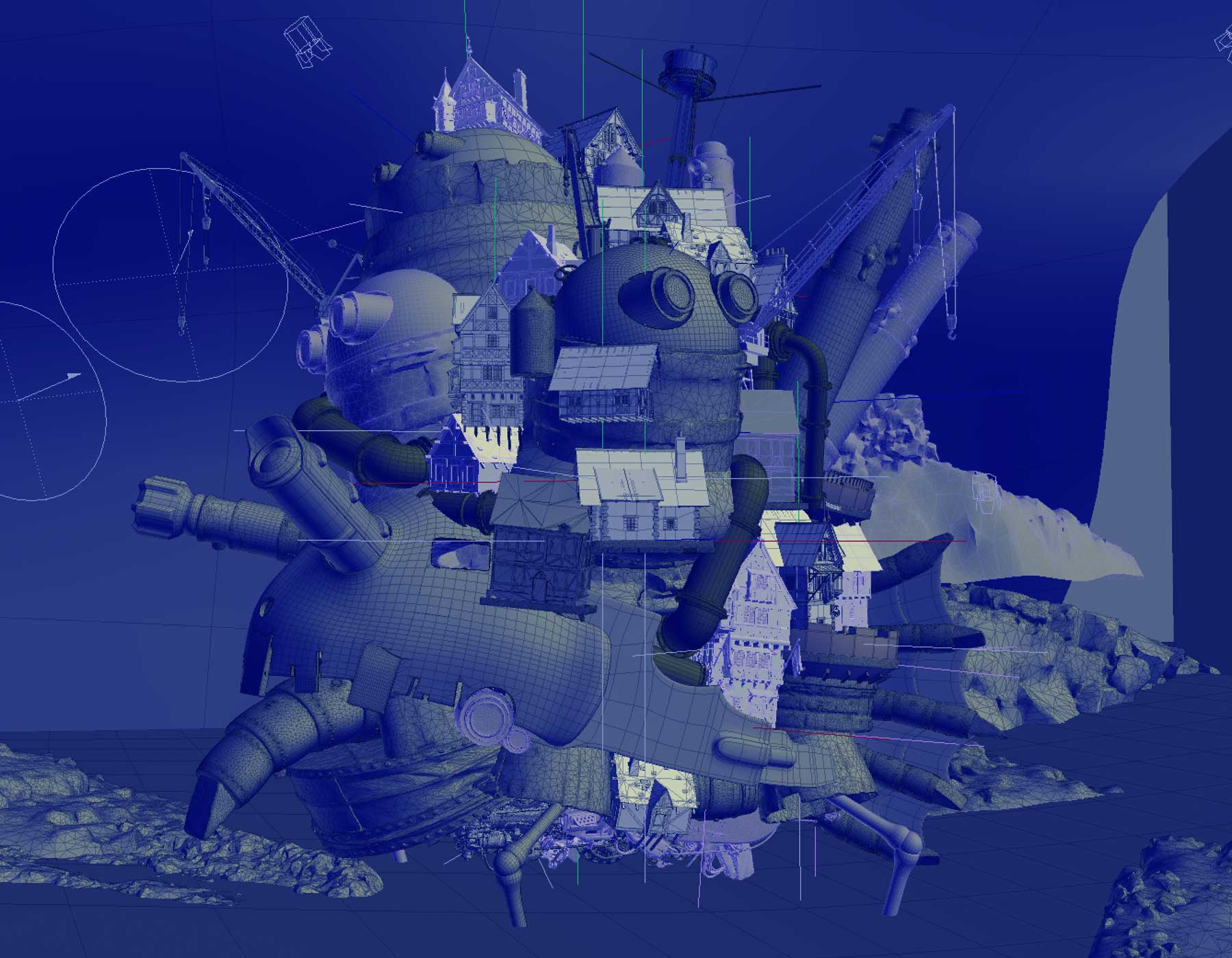studio ghibli, howls moving castle, Ngon, Manchester Agency, 3d artist
