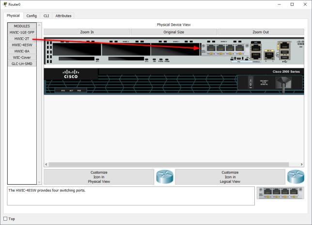Menambahkan Etherswitch Module ke Router