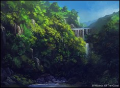 Andreas Rocha Magic: The Gathering Forest Land Card