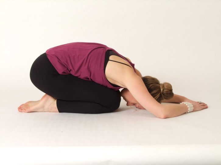 pose of the child - samaga simple yoga posture for natural weight loss