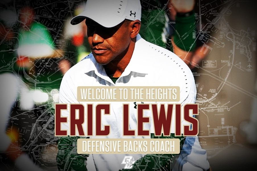 Eric Lewis Named Defensive Backs Coach at Boston College