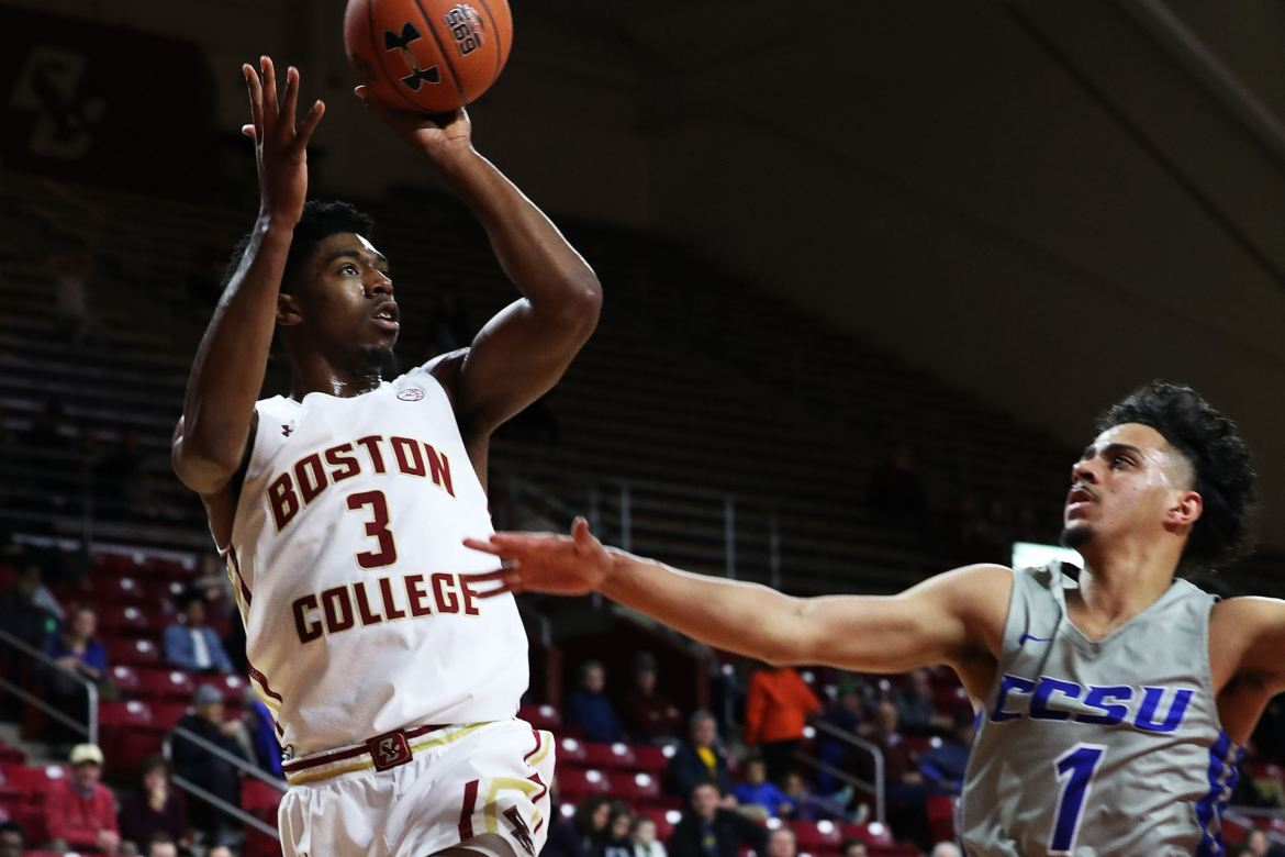 Boston College wins easily, 74-55 over Central Connecticut State